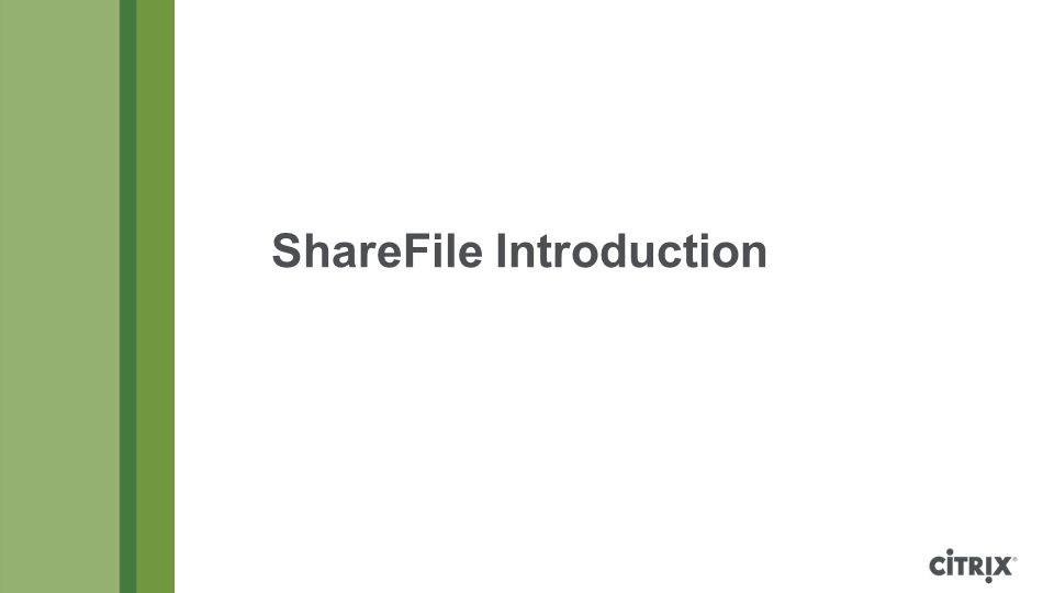 ShareFile Introduction