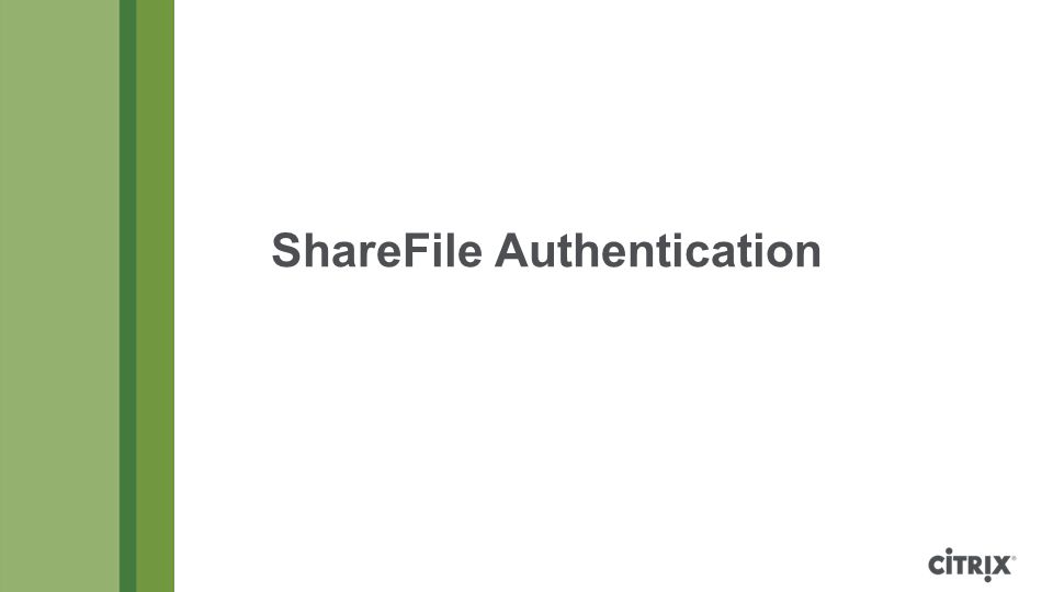 ShareFile Authentication