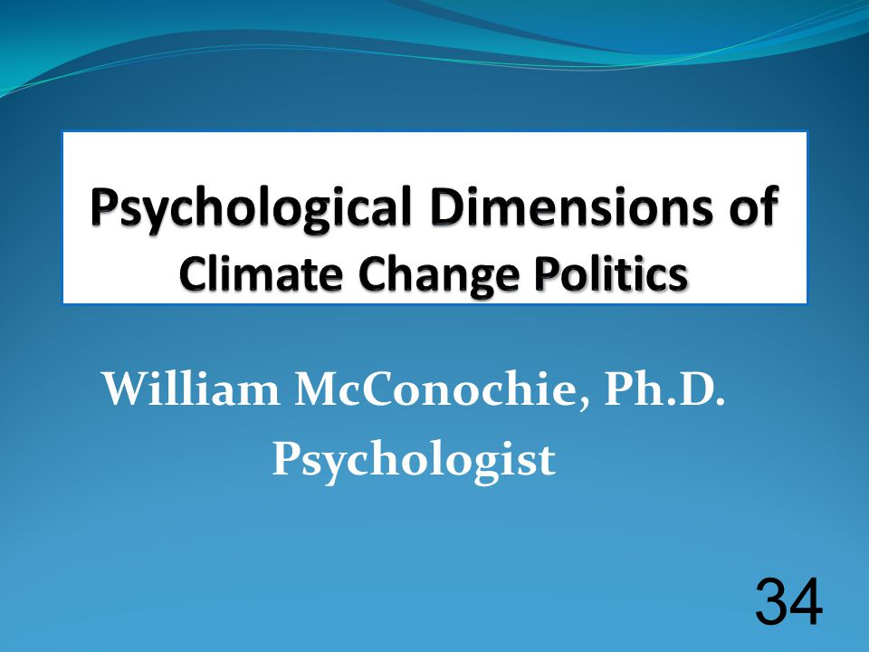 William McConochie, Ph.D. Psychologist 34
