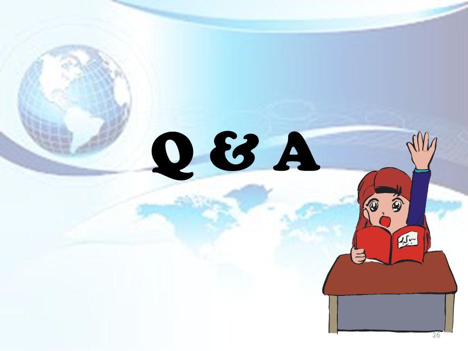 Q & A 26