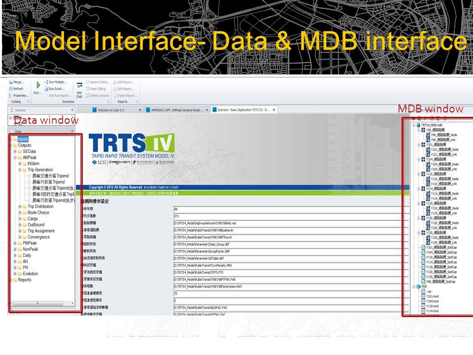 Data window MDB window