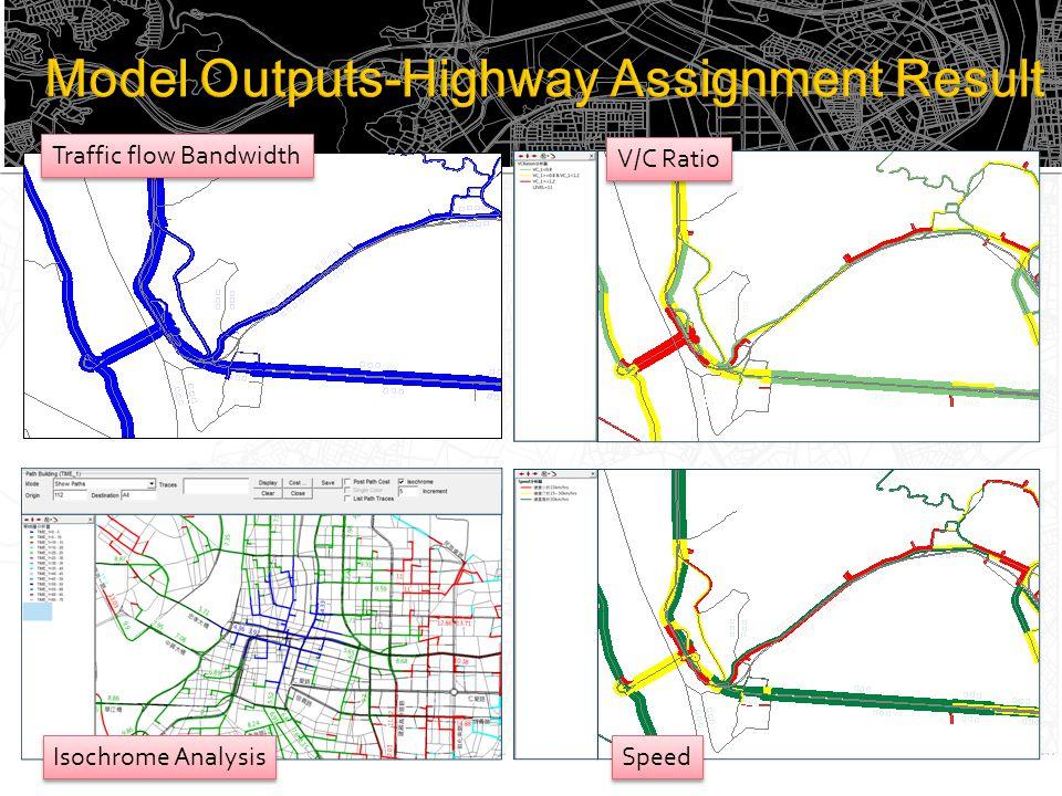 Traffic flow Bandwidth V/C Ratio Isochrome Analysis Speed