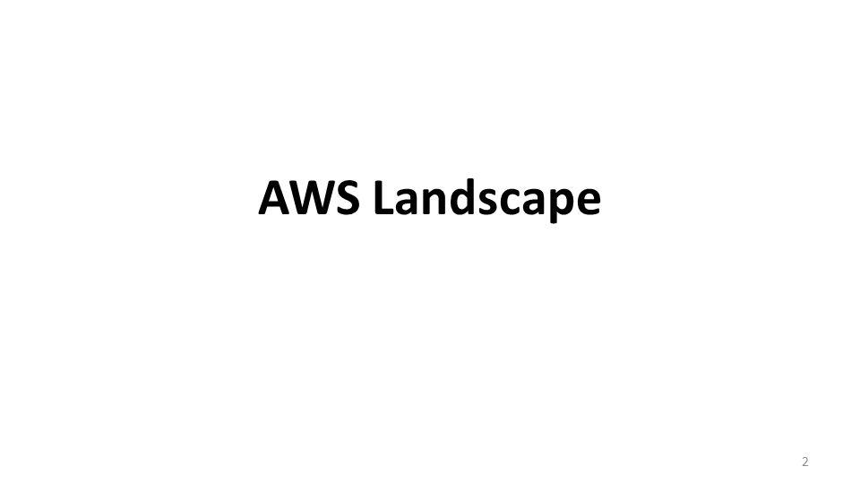 AWS Landscape 2