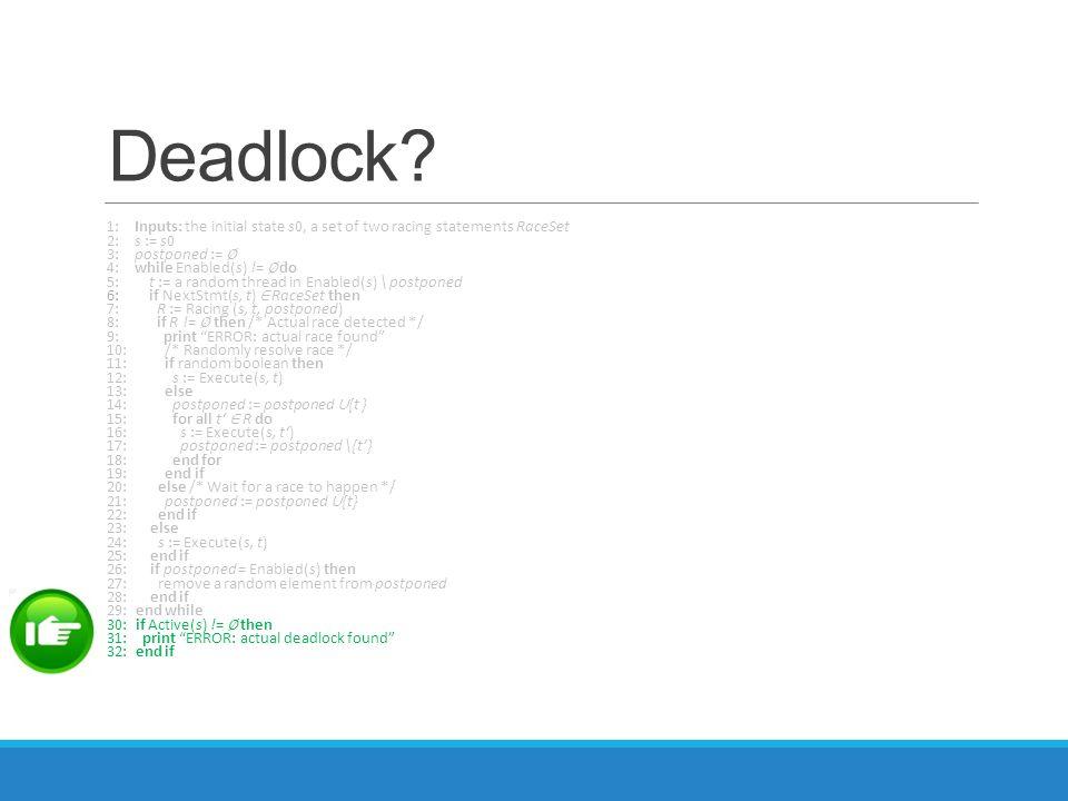 Deadlock.