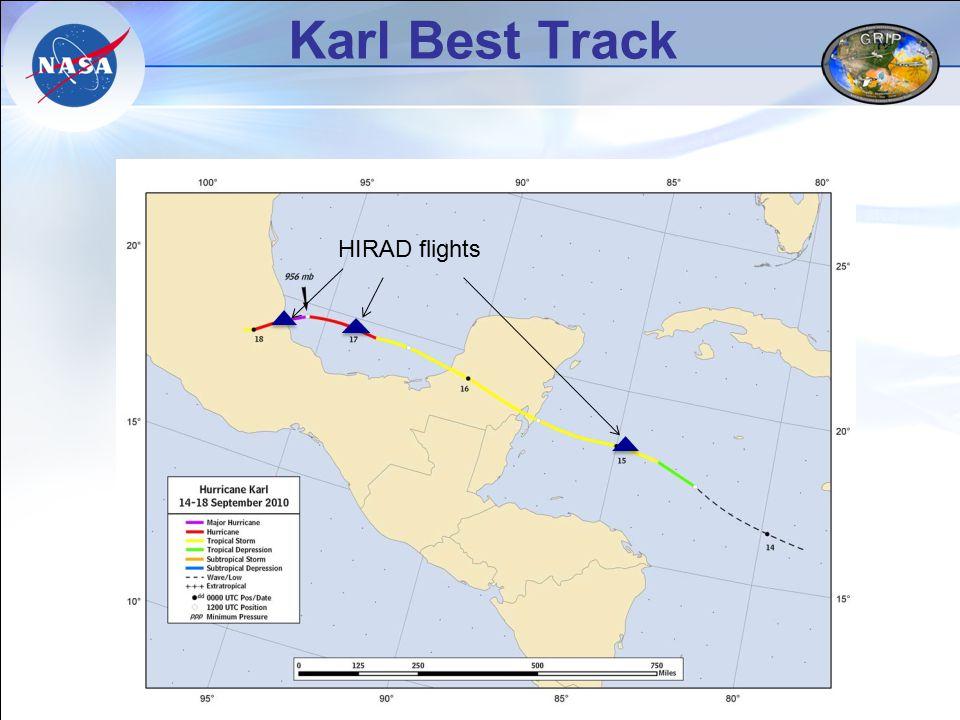 Karl Best Track HIRAD flights