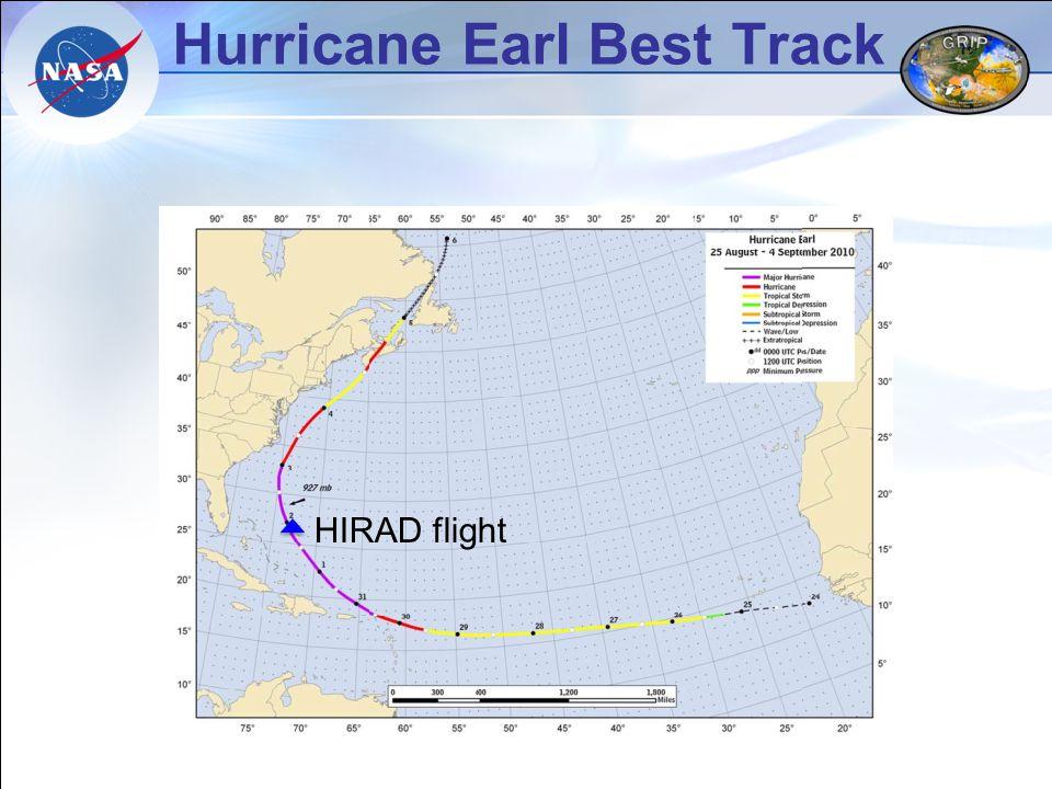Hurricane Earl Best Track HIRAD flight