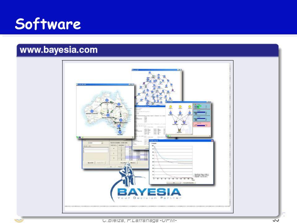 C.Bielza, P.Larrañaga -UPM- 33 Software