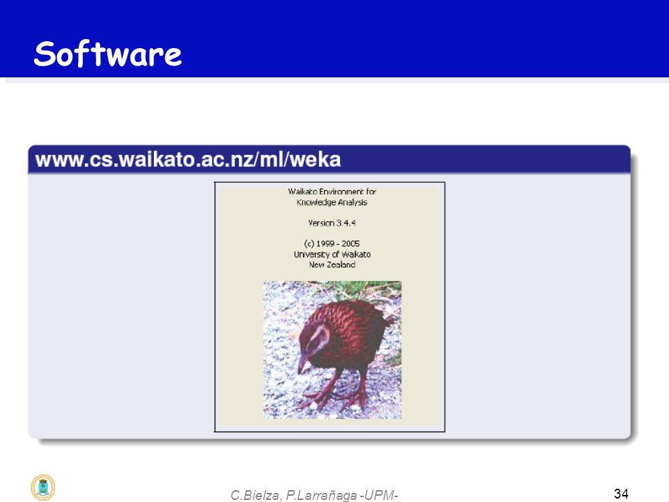 C.Bielza, P.Larrañaga -UPM- 34 Software