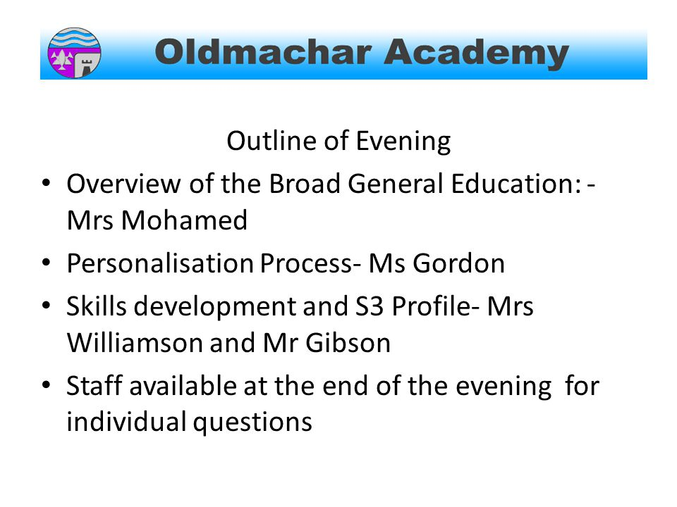 S3 Profile By the end of s3 all pupils will have produced their own profile.
