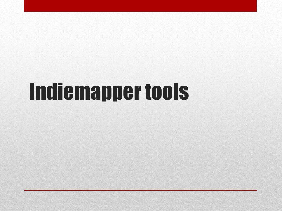 Indiemapper tools