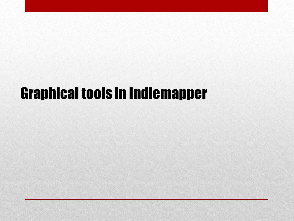Graphical tools in Indiemapper