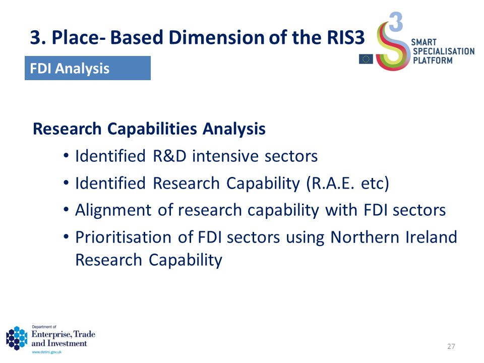 Research Capabilities Analysis Identified R&D intensive sectors Identified Research Capability (R.A.E.