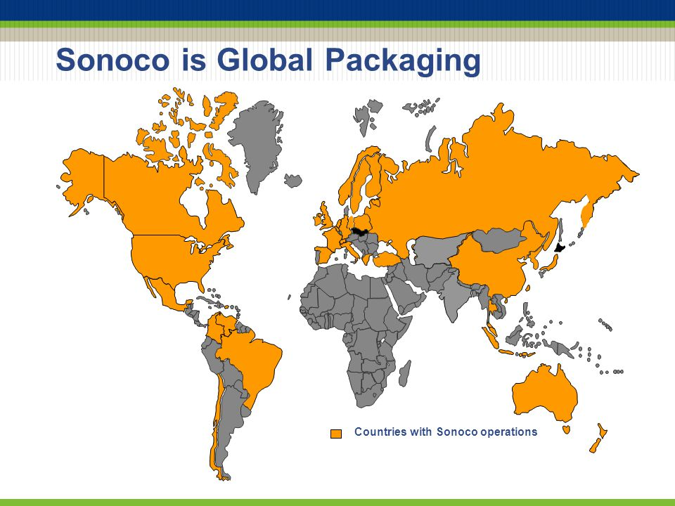 Sonoco is Global Packaging Countries with Sonoco operations