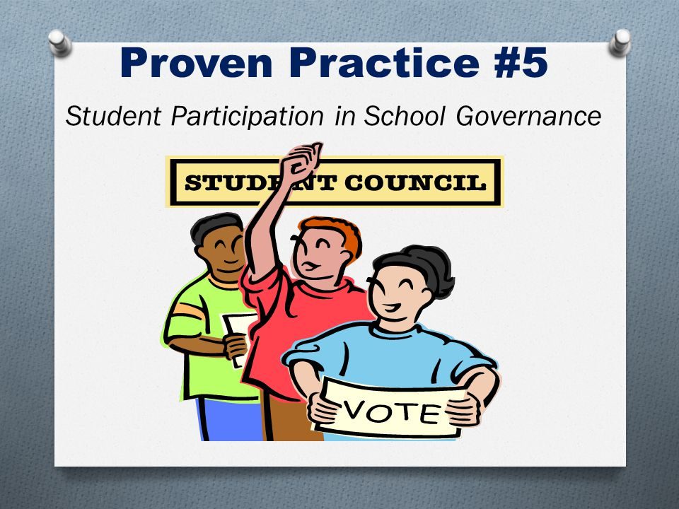 Proven Practice #5 Student Participation in School Governance