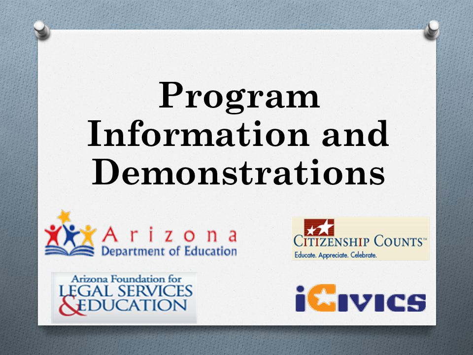 Program Information and Demonstrations