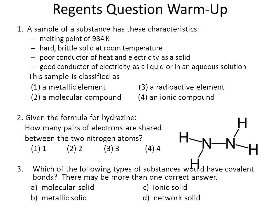 Regents Question Warm-Up 1.