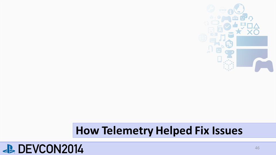 46 How Telemetry Helped Fix Issues