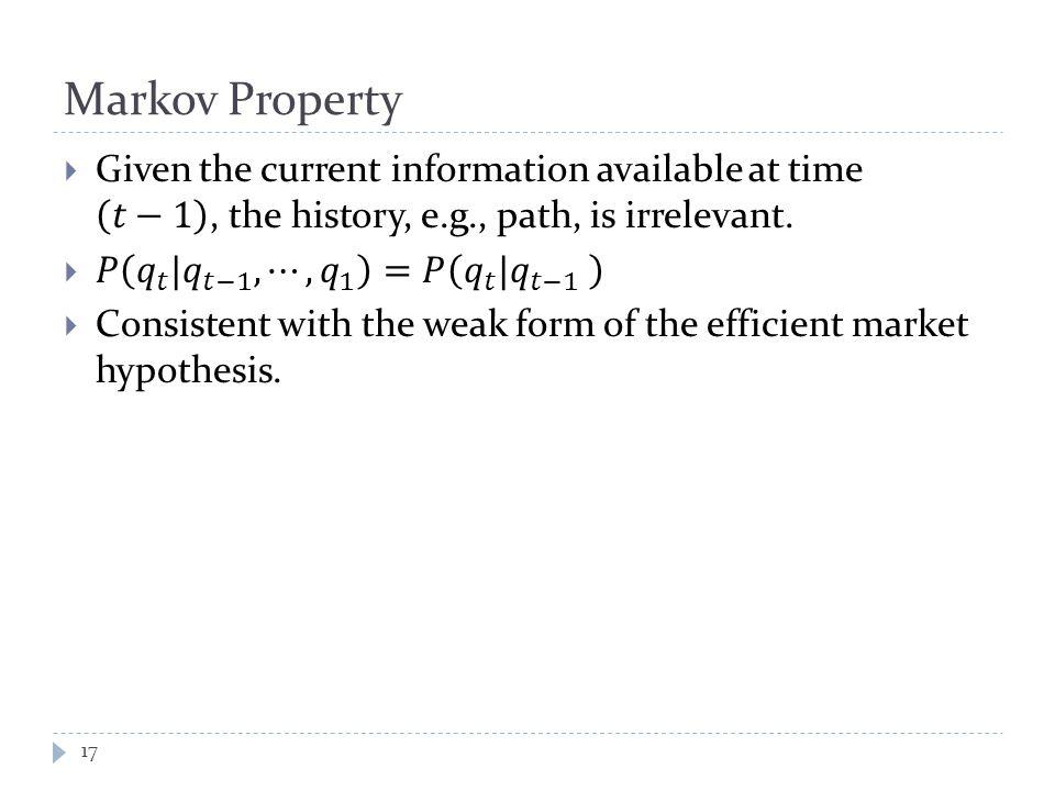 Markov Property 17