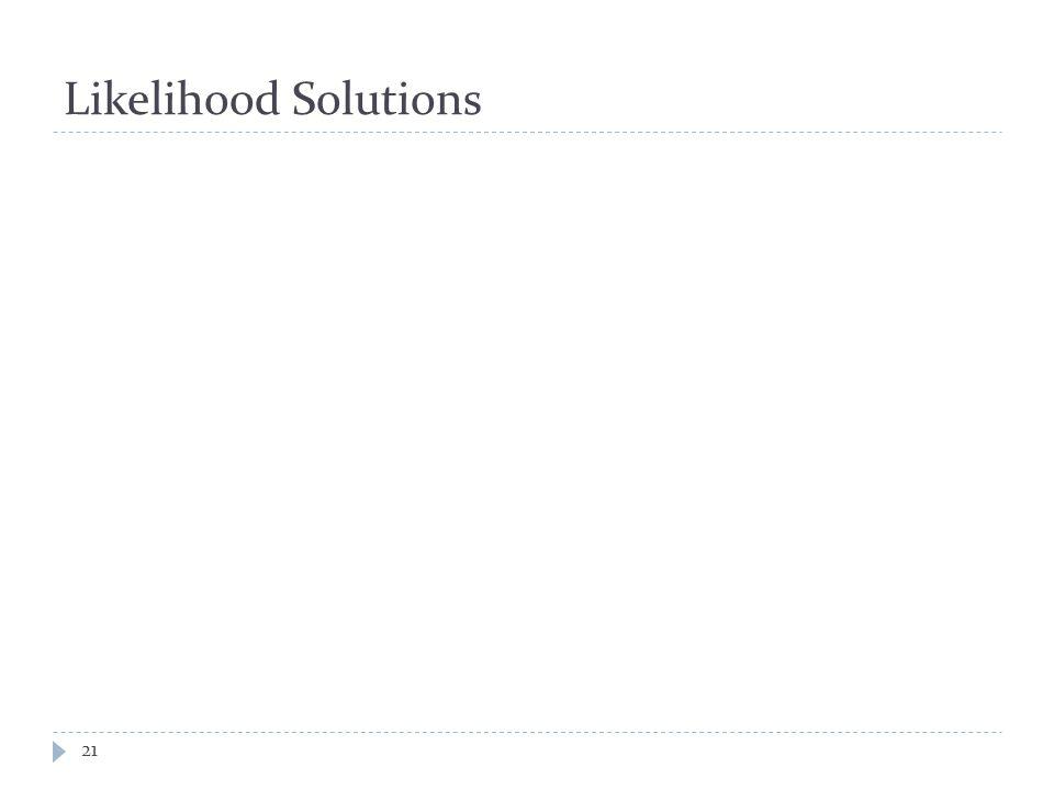 Likelihood Solutions 21