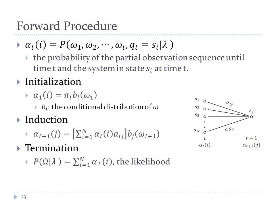 Forward Procedure 23