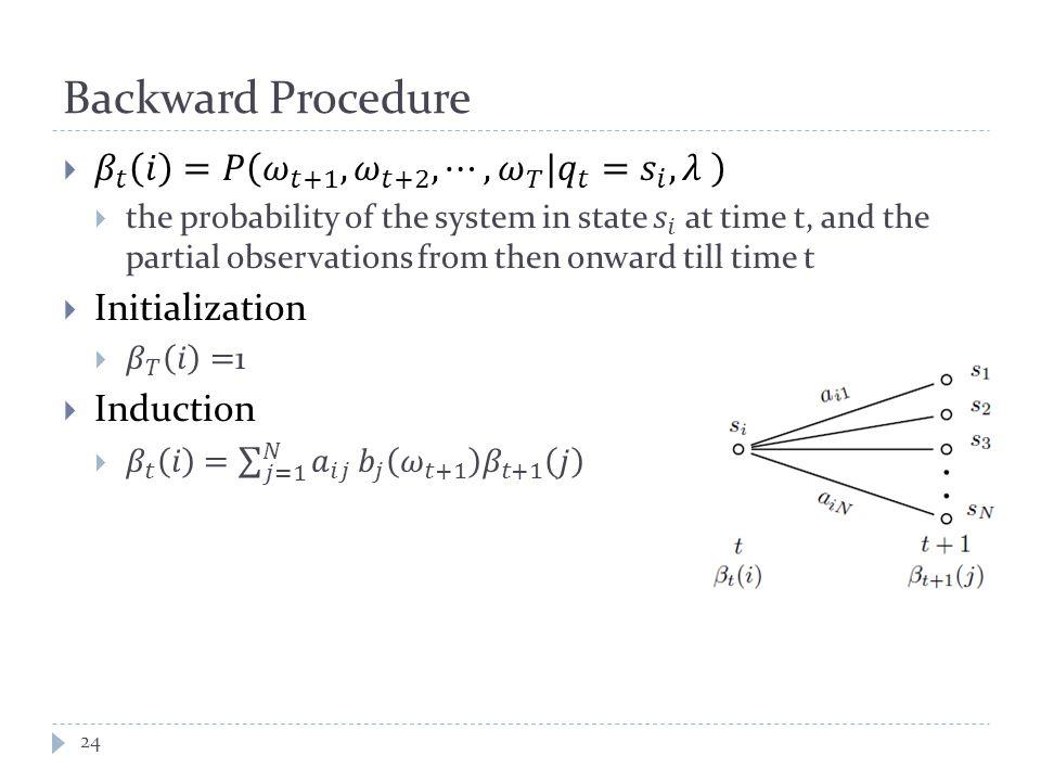Backward Procedure 24