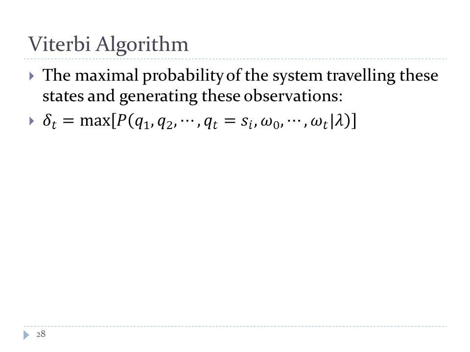 Viterbi Algorithm 28