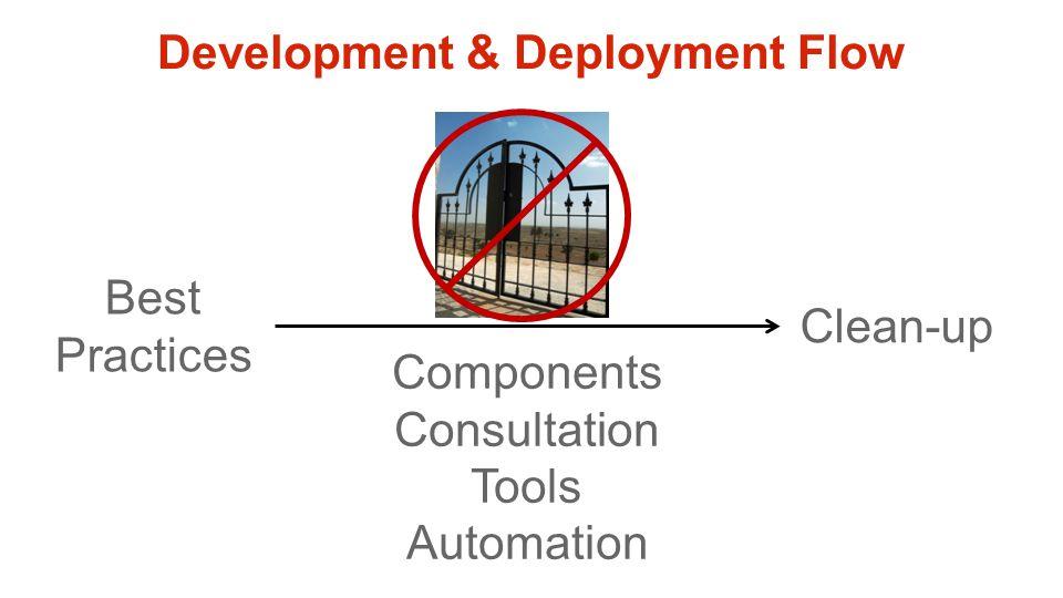 Development & Deployment Flow Best Practices Components Consultation Tools Automation Clean-up