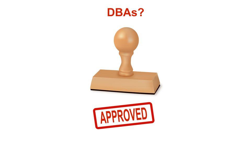 DBAs?
