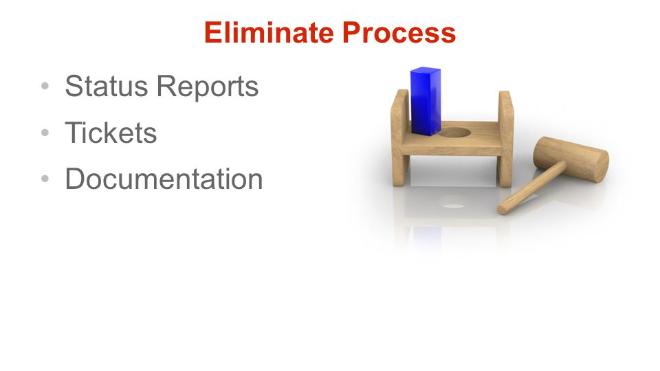 Eliminate Process Status Reports Tickets Documentation