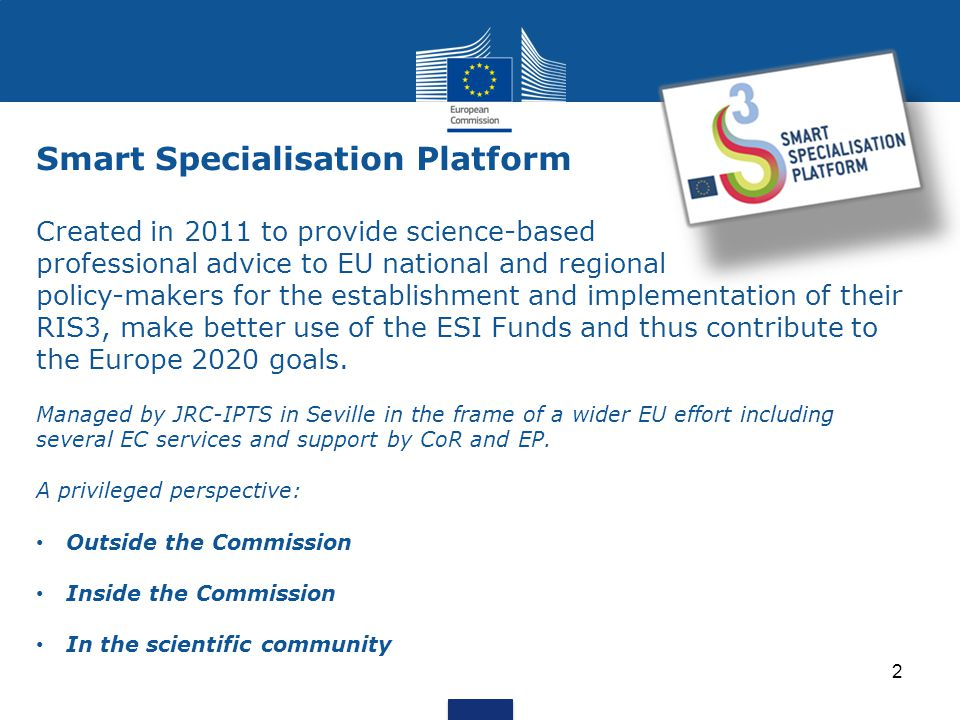3 Main activities of S3 Platform 2.Trans-national learning, Peer Review & thematic workshops 4.
