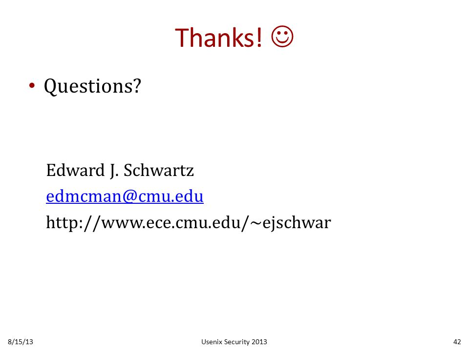 Thanks. Questions. Edward J.