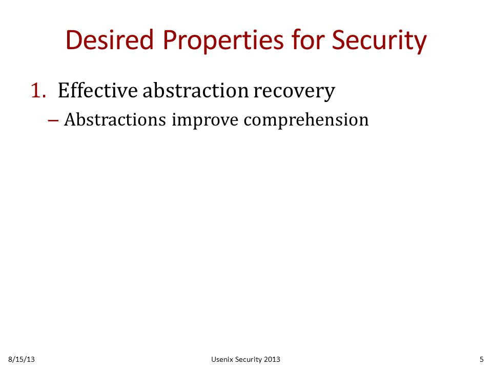 Control Flow Structure: Gotos Emitted (Fewer is Better) 8/15/13Usenix Security 201336