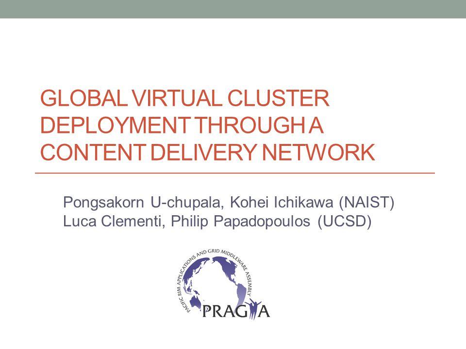 Some History PRAGMA 21 Easily share computational infrastructure components between PRAGMA members PRAGMA Virtual Cluster Sharing
