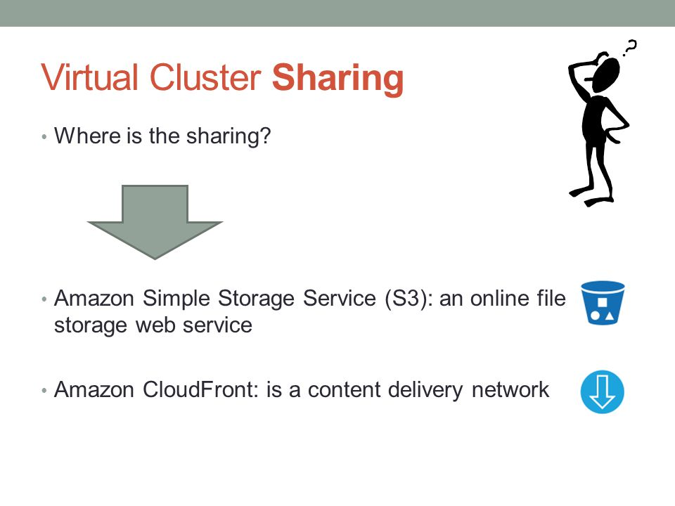 Virtual Cluster Sharing Where is the sharing.