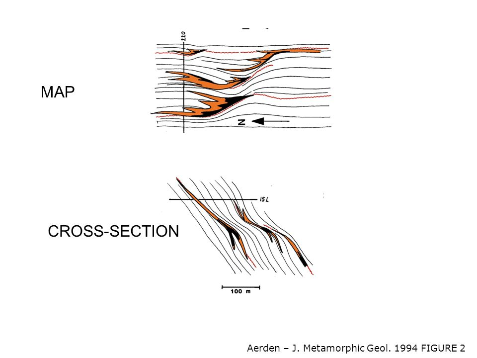 CROSS-SECTION MAP Aerden – J. Metamorphic Geol. 1994 FIGURE 2