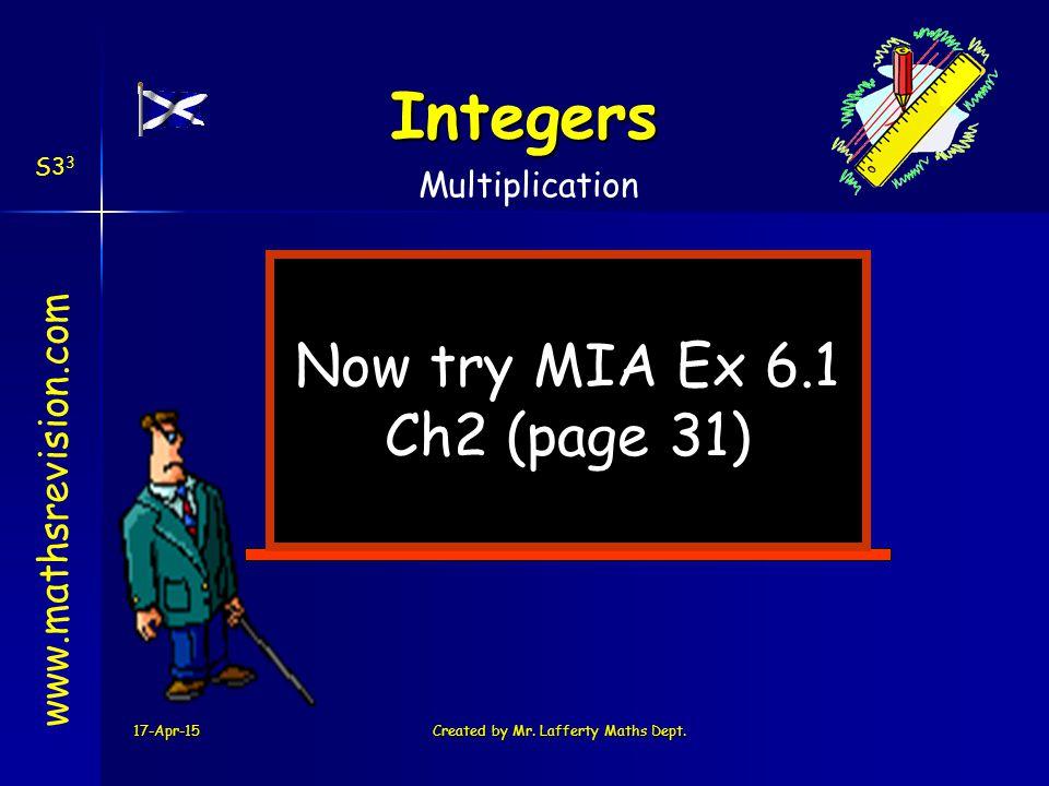 17-Apr-15Created by Mr. Lafferty Maths Dept.