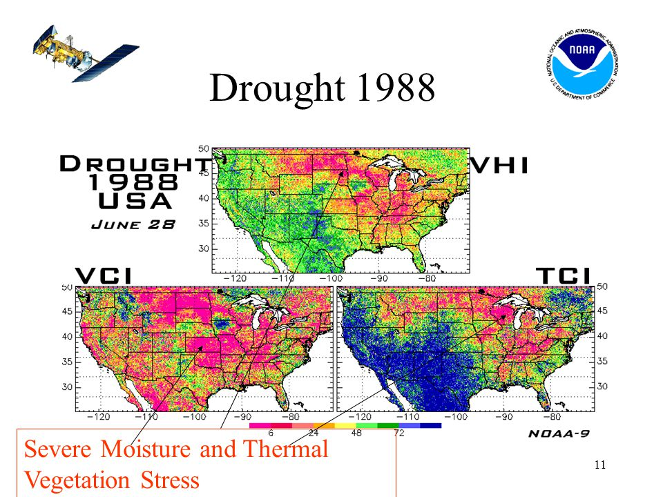 11 Drought 1988 Severe Moisture and Thermal Vegetation Stress