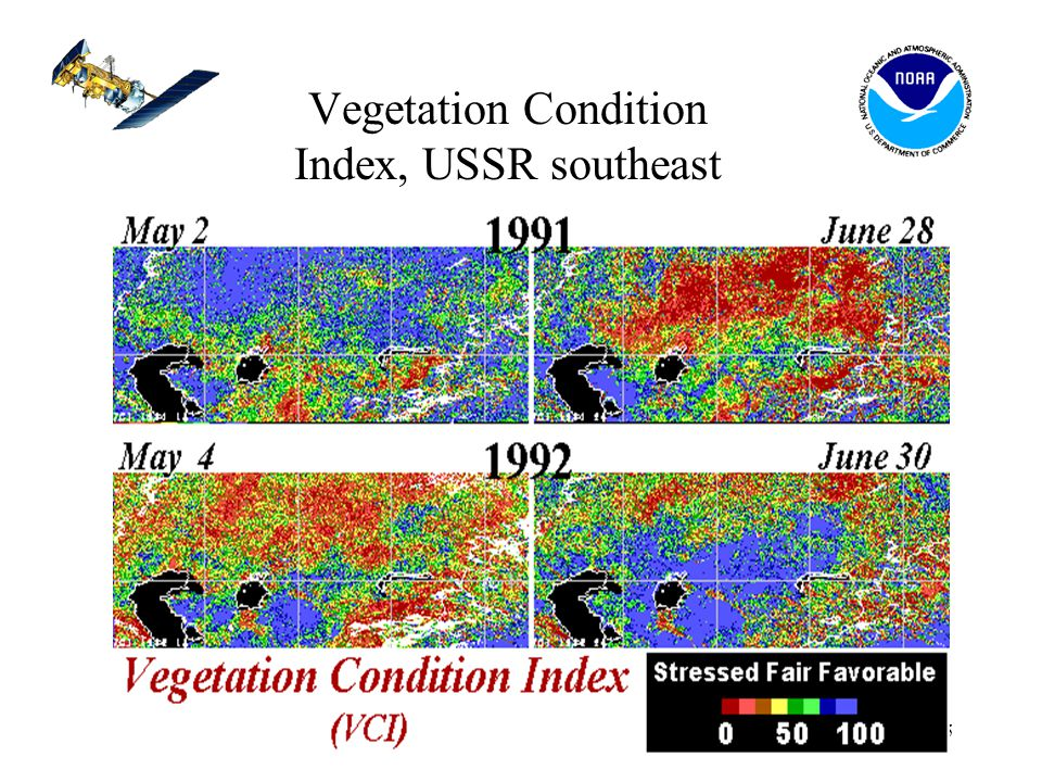 15 Vegetation Condition Index, USSR southeast