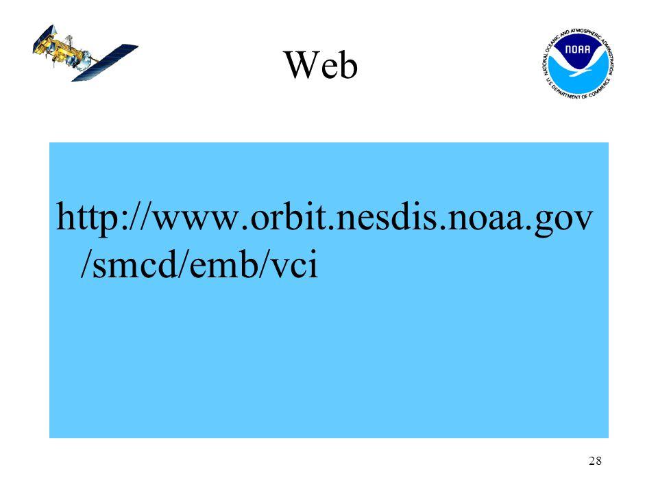 28 Web http://www.orbit.nesdis.noaa.gov /smcd/emb/vci