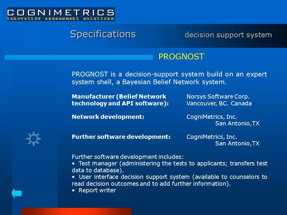 Pricing prognost Software Development$ 22,500 test manager (incl.