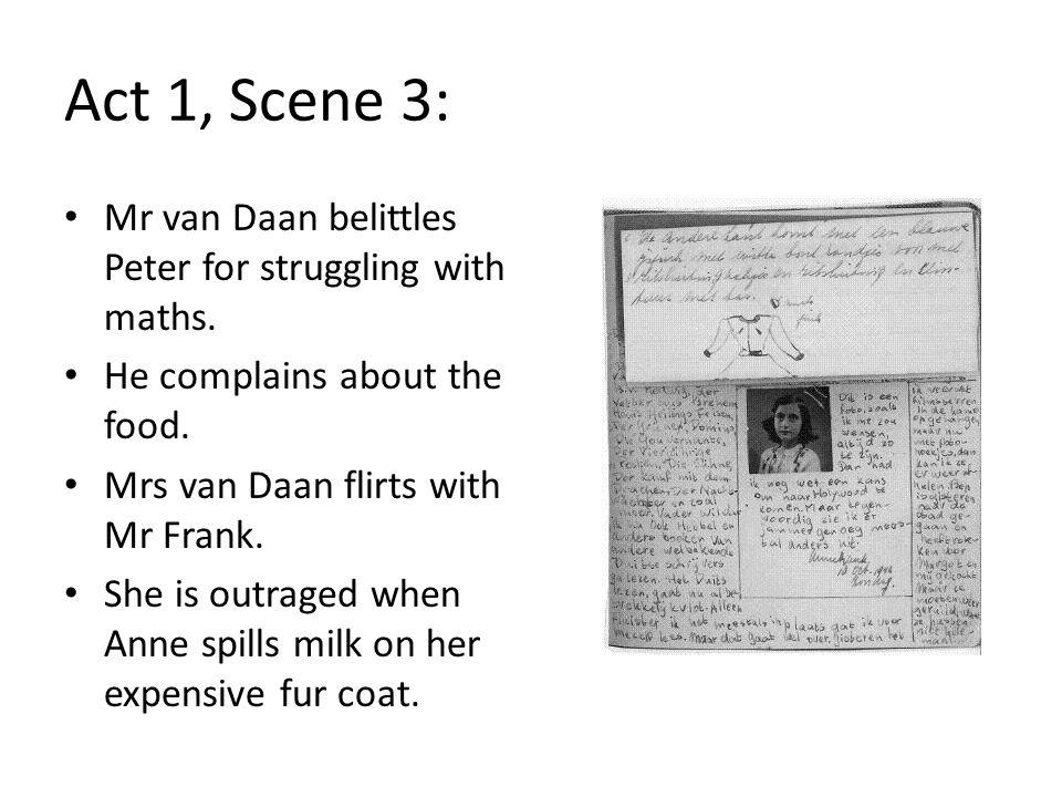 Act 1, Scene 3: Jan Dussel, a Jewish dentist, is in trouble.