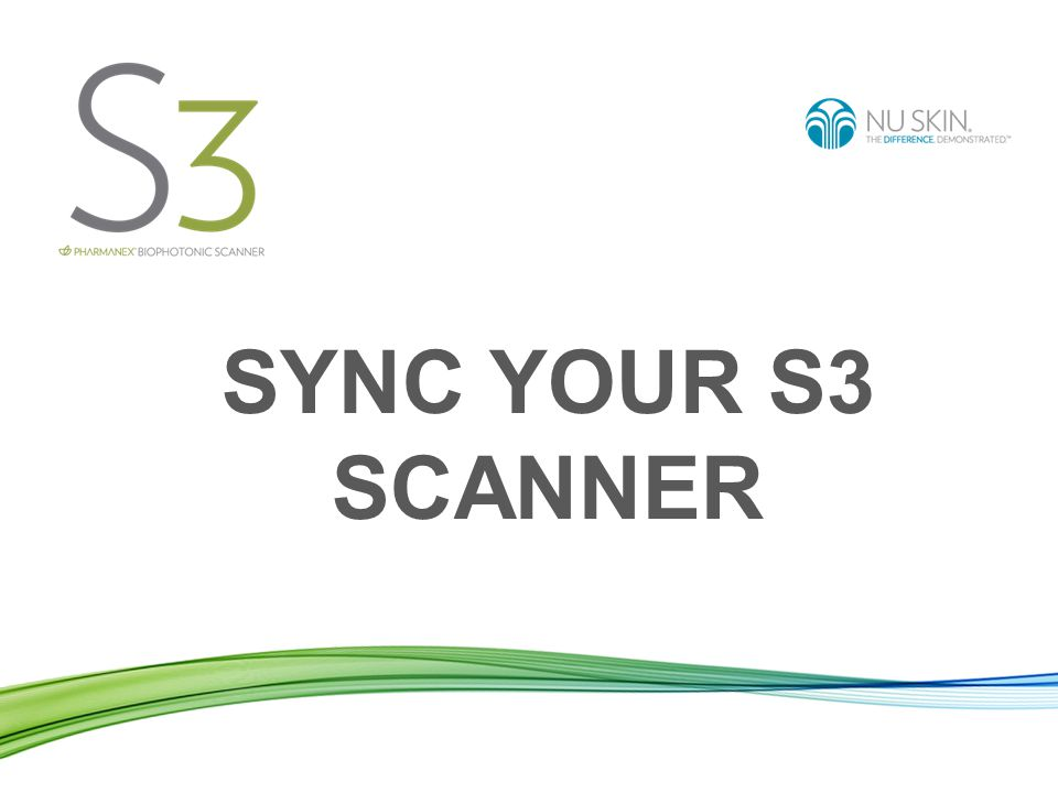 SYNC YOUR S3 SCANNER