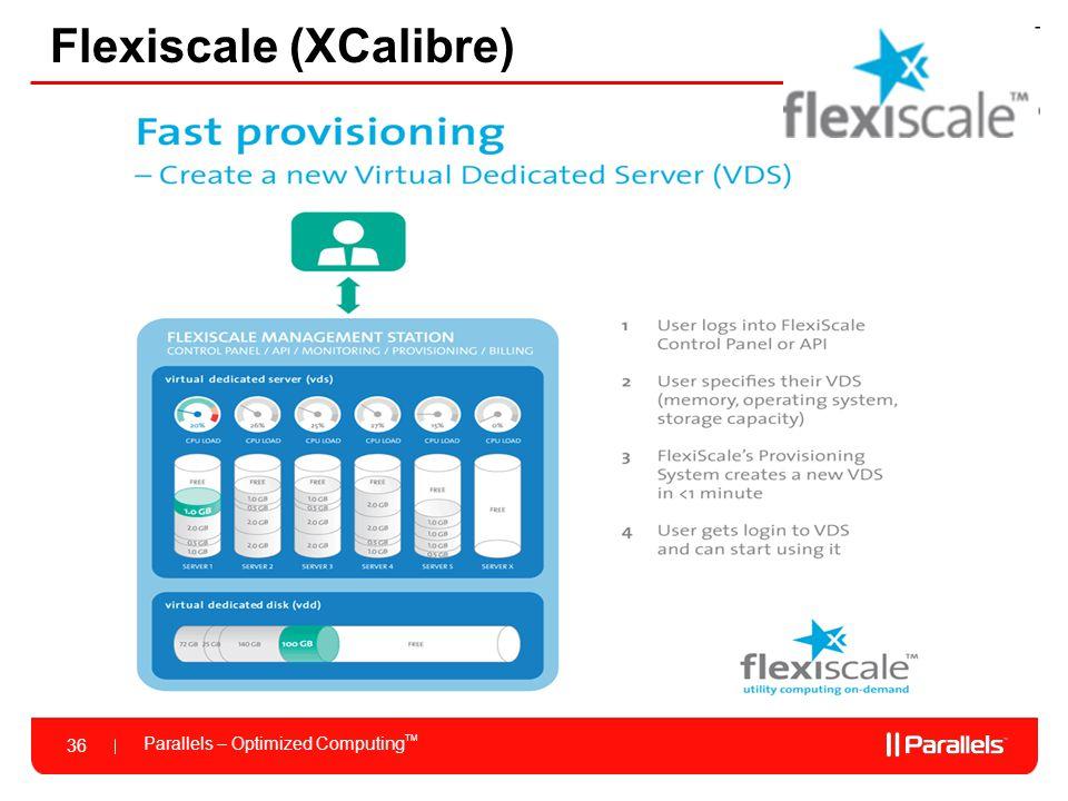 Parallels – Optimized Computing TM 36 Flexiscale (XCalibre)