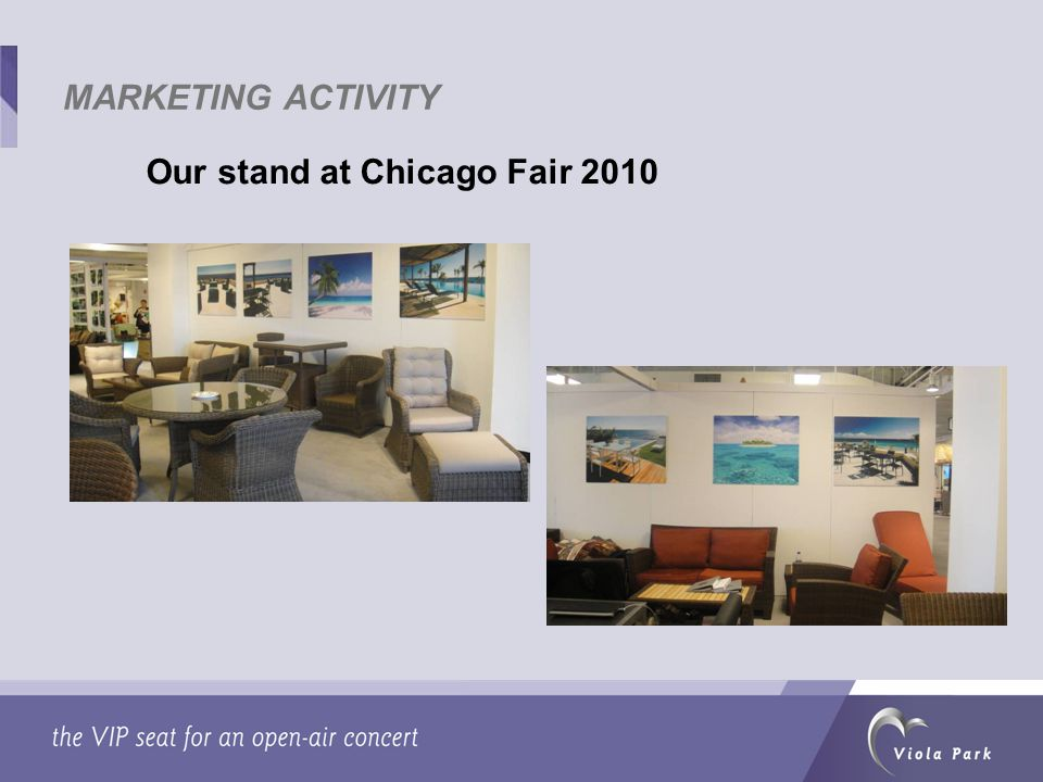 Our stand at Chicago Fair 2010 MARKETING ACTIVITY