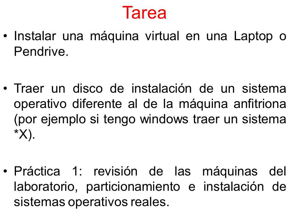 Tarea Instalar una máquina virtual en una Laptop o Pendrive.