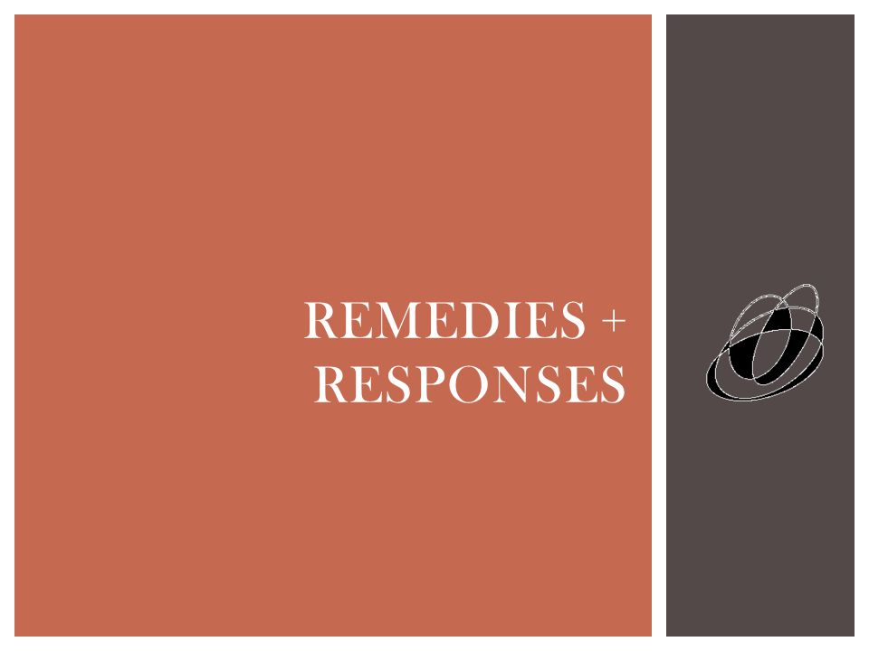 REMEDIES + RESPONSES