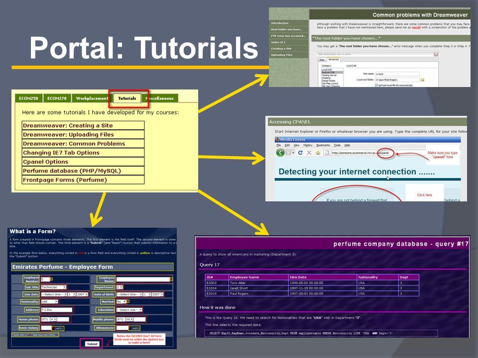 Portal: Tutorials