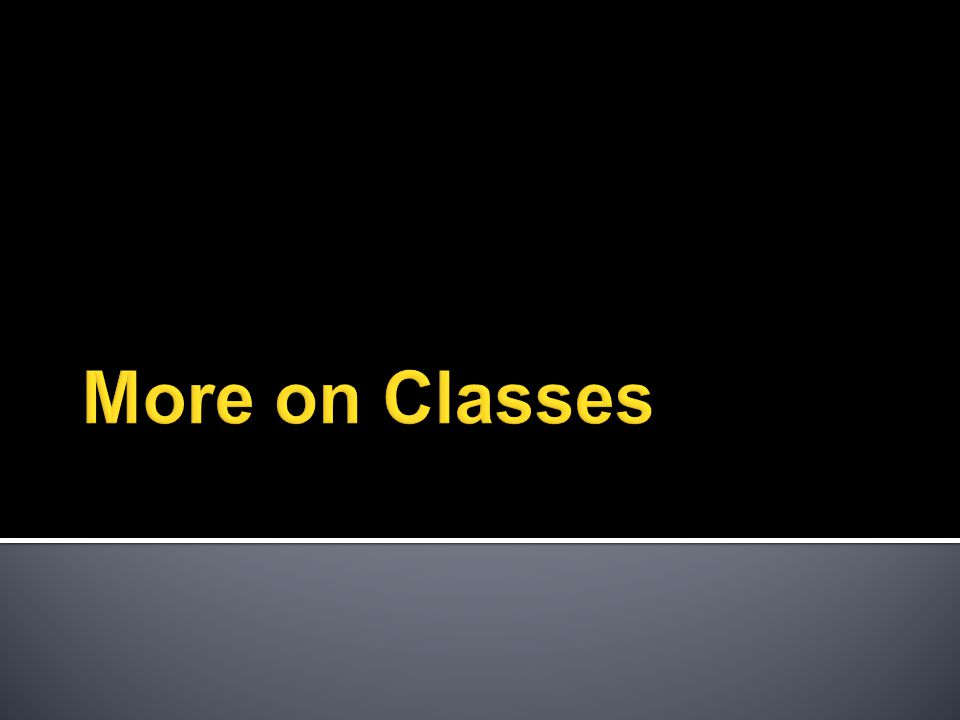  A class can have static  Variables  Methods  Static variables and methods  Are associated with the class itself!.