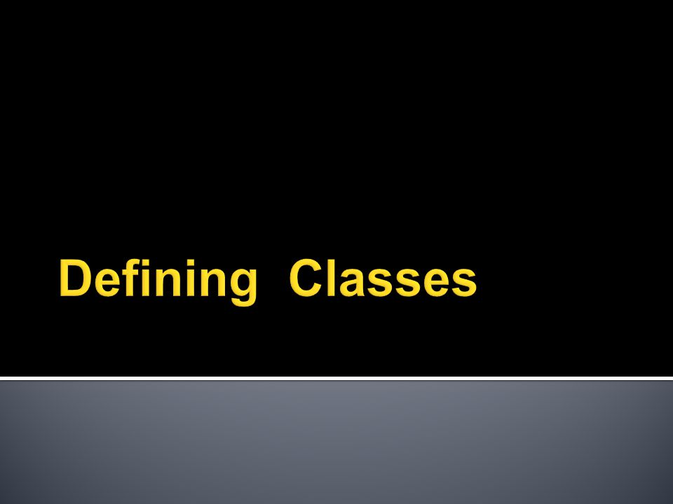 class name { declarations constructor definitions method definitions } instance variables and symbolic constants how to create and initialize objects how to manipulate those objects (may or may not include its own driver , i.e., main( )) These parts of a class can actually be in any order