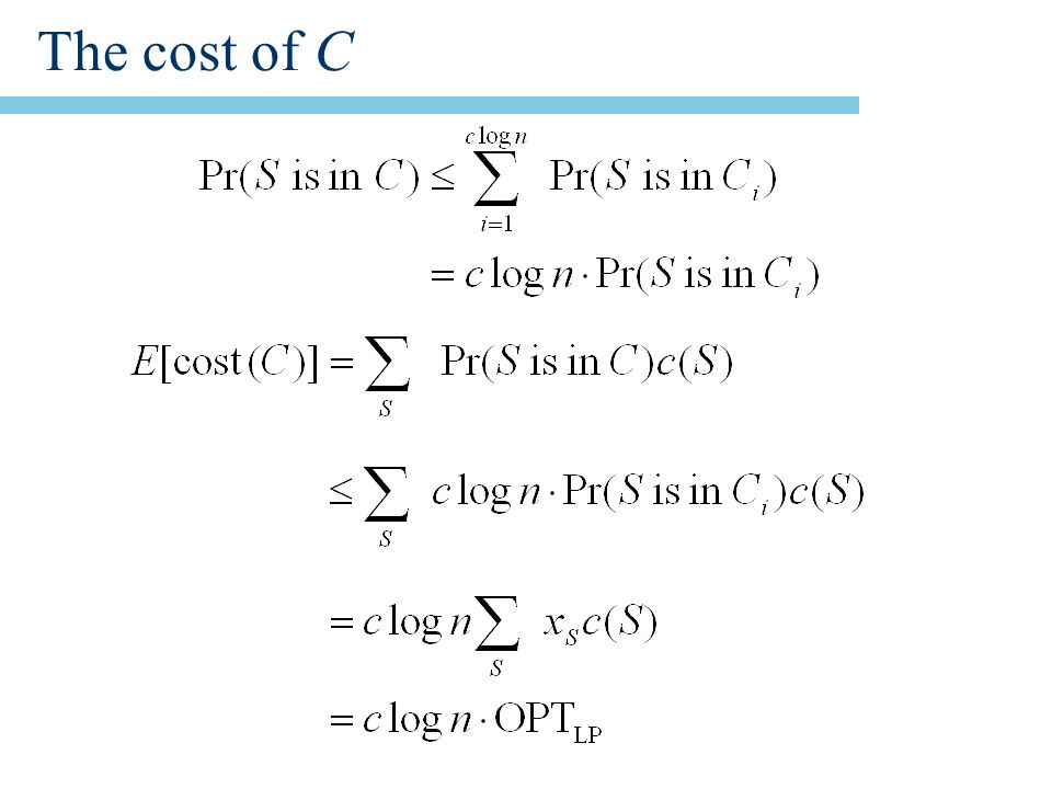 The cost of C